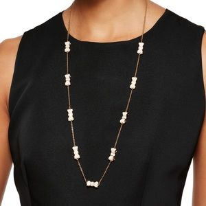 Kate Spade Take a Bow Necklace in White